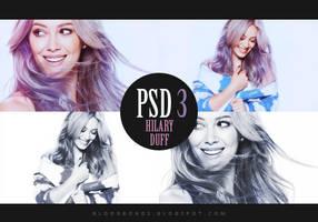 PSD coloring 3: Hilary Duff by pretenditsfine