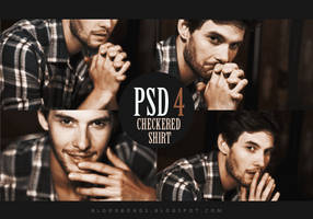 PSD coloring 4: Checkered shirt by pretenditsfine