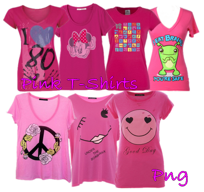Pink T-Shirt png set1 by JEricaM