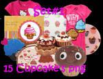15 Cupcake's PNG Set_1