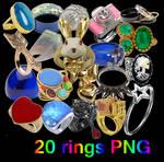 20 Rings PNG