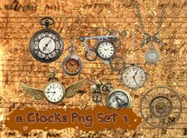 8 Clocks Png Set_1 by JEricaM