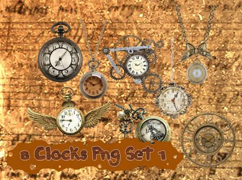 8 Clocks Png Set_1