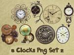 8 Clocks Png Set_2