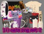 10 Cats PNG Set_2