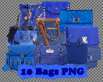 10 png Blue Bags
