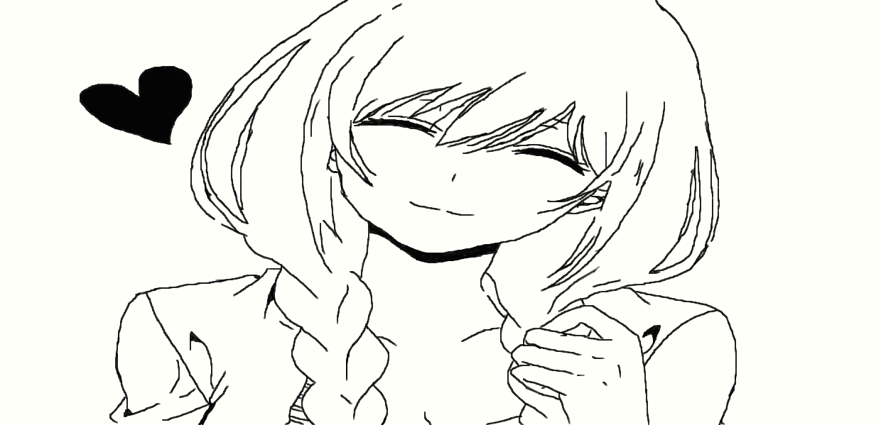 Anime Girl Heart Smile by AkaneAgniell on DeviantArt  How To Draw An Anime Smile