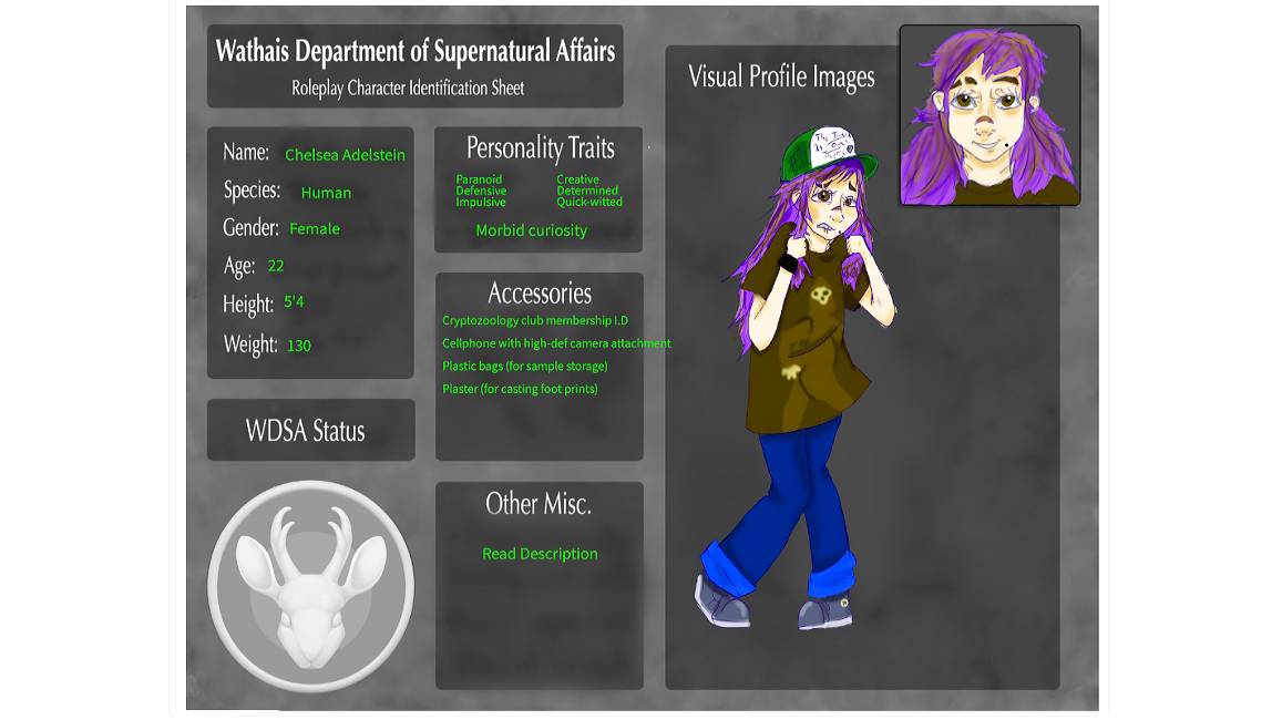 Character Ref: Chelsea Adelstein by Babeowulf