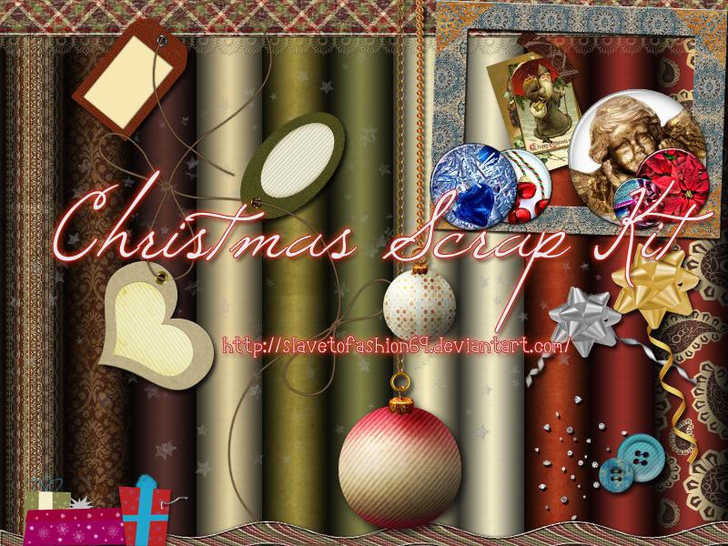 Christmas Scrap Kit by slavetofashion69