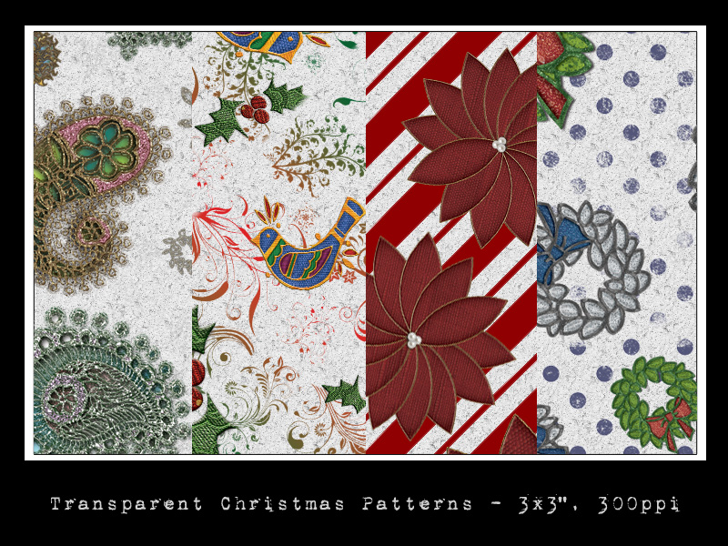 Transparent Christmas Patterns