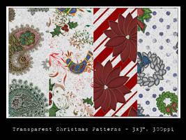 Transparent Christmas Patterns by slavetofashion69