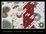 Transparent Christmas Patterns