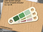 Paint Swatch Sample Template
