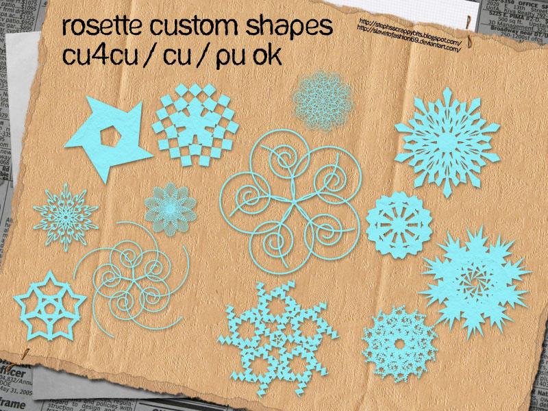 Rosette Custom Shapes by slavetofashion69