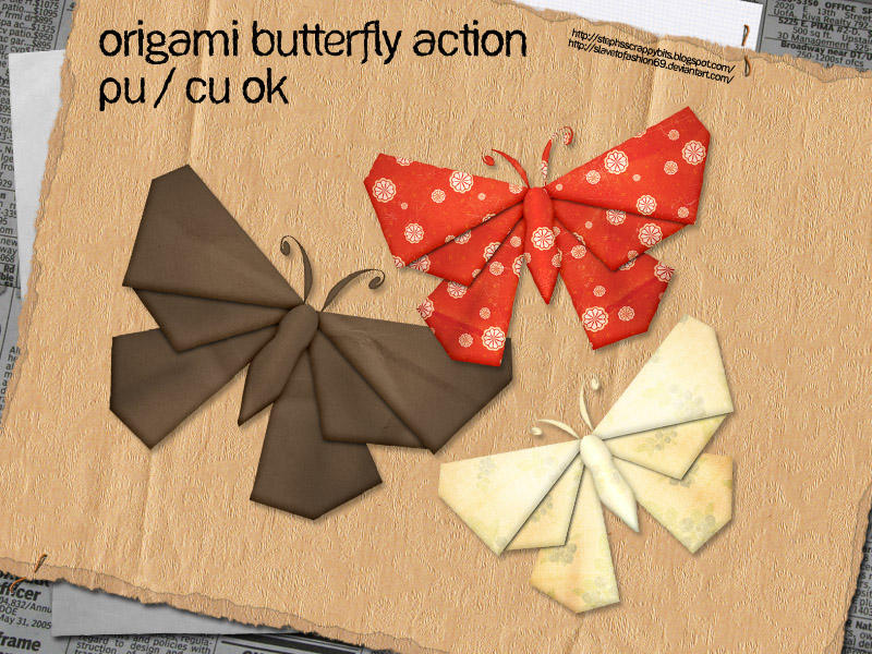 Origami Butterfly By Slavetofashion69