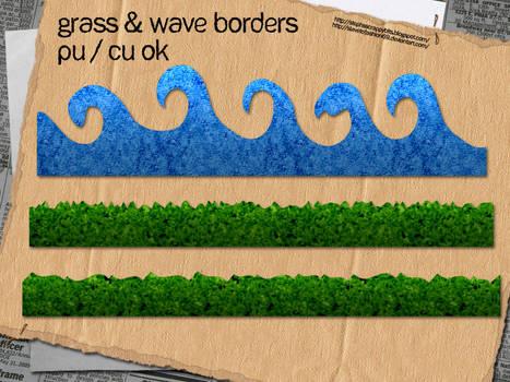 Grass + Wave Borders