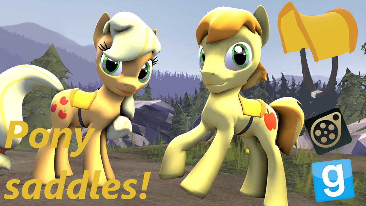 Saddle for ponies! SFM-Gmod by LunarGuardWhoof