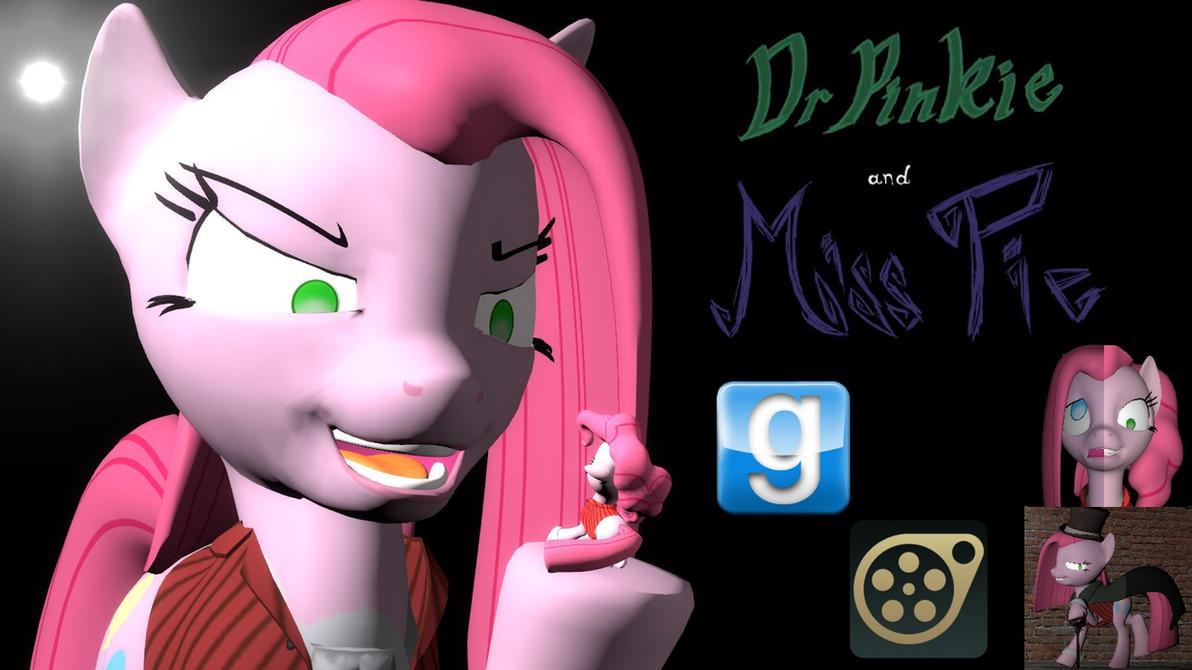 Dr Pinkie and Miss Pie SFM-Gmod ponies by LunarGuardWhoof
