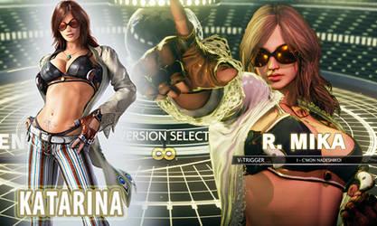 [SFV MOD Preview] R.Mika as Katarina from Tekken7 by TiggieWhite