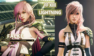[SFV MOD Preview] Falke as Lightning FF XIII