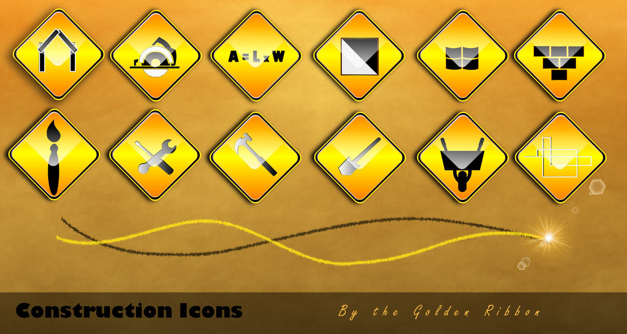 Inkscape-construction icons by Golden-Ribbon