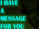 Spring trap has something to say