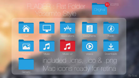 Flader : Flat folder Yosemite Style
