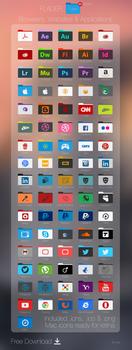Flader : Browser, website, App +80 folders