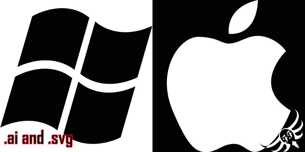 vector stock of apple and windows logofundamentally-flawed on