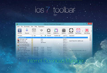 ios 7 toolbar for Internet Download Manager