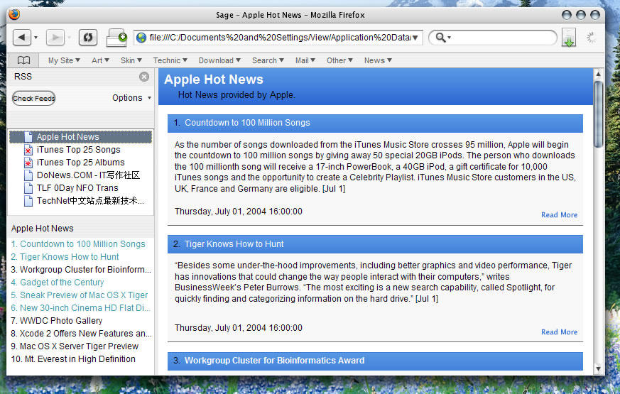Sage1.1 for firefox   Mod and Skin by viewjz