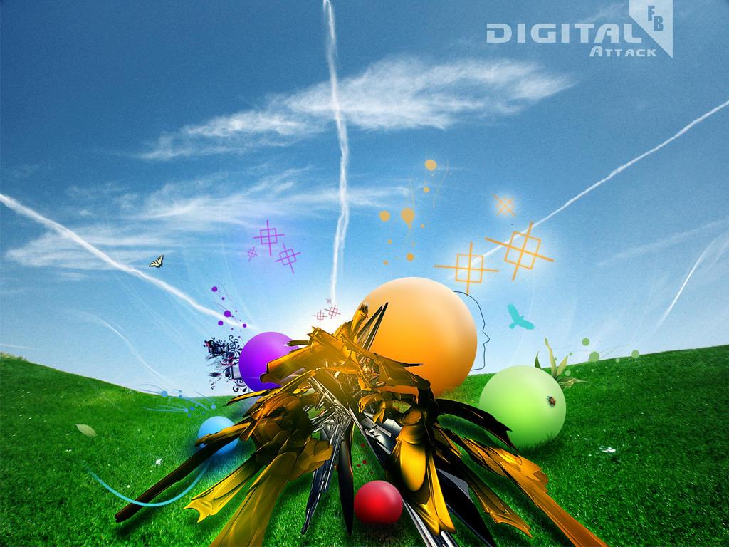 Digital Atack Wallpaper pack by FISHBOT1337
