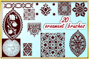 Ornament brushes by AnastasieLys