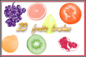 Fruits brushes by AnastasieLys