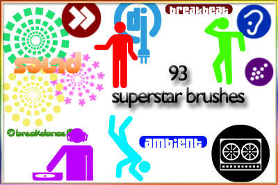 Superstar DJ brushes by AnastasieLys
