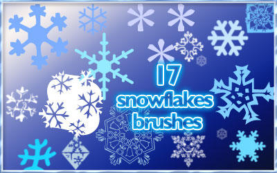 Snowflake brushes by AnastasieLys