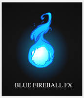 Blue FireBall FX by AlexRedfish