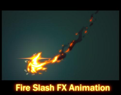 Fire Slash FX Animation