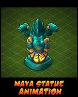 Mayan goddess statue Animation by AlexRedfish