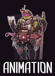 TMNT Donatello Animation by AlexRedfish