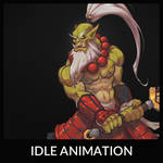 Samuro Idle Animation