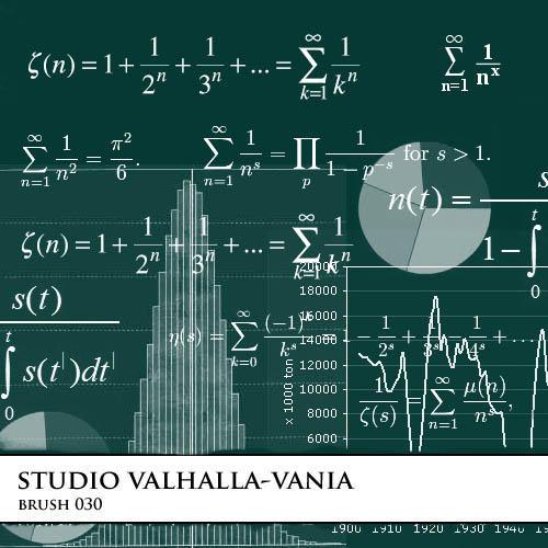 Math brushes by valhalla-vania-brush