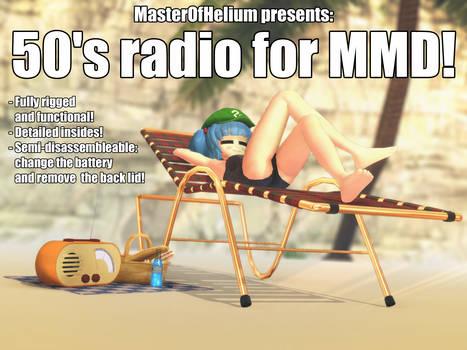 [MMD accessory download] 50's radio