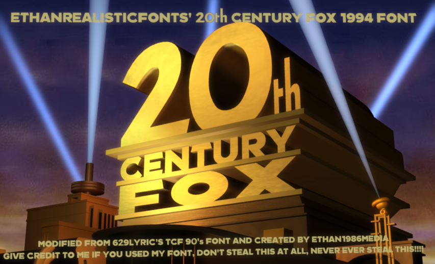 1994 20th Century Fox font by ethan1986media on DeviantArt