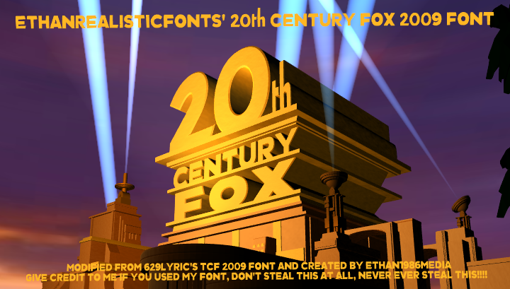2009 20th Century Fox font by ethan1986media on DeviantArt