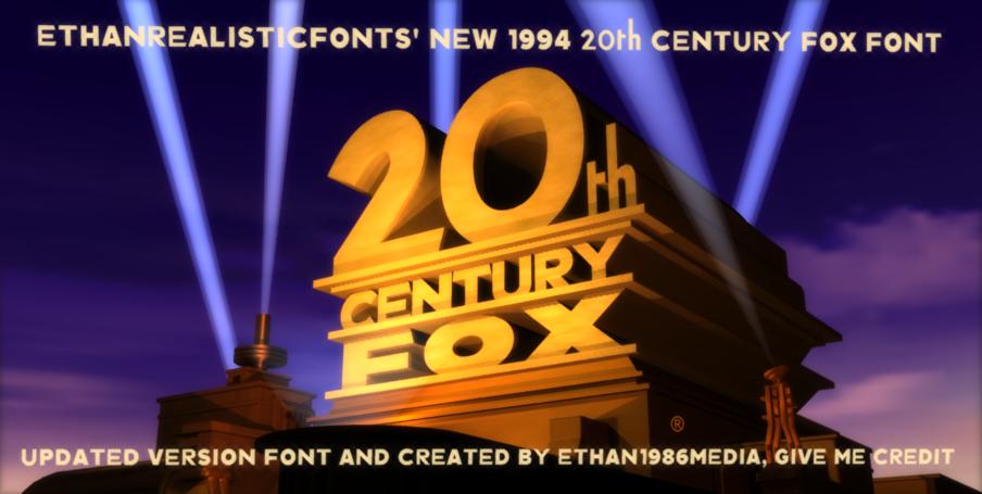 1994 20th Century Fox font 2 0 by ethan1986media on DeviantArt