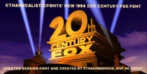 1994 20th Century Fox font 2.0
