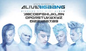 BIGBANG -  Alive Font