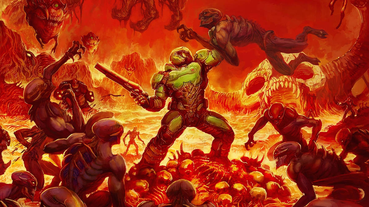 Composite Doomguy Rips And Tears Into Death Battle By
