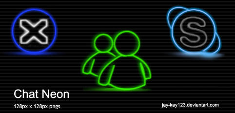 Chat Neon by Jay-Kay123